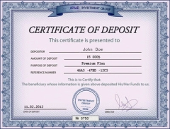 Certificate Of Deposit Page 2