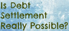 debt settlement really work