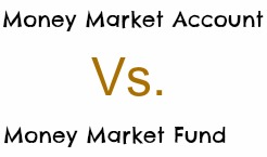 money market account vs fund