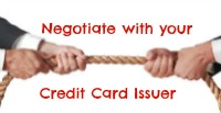 negotiate with your credit card issuer